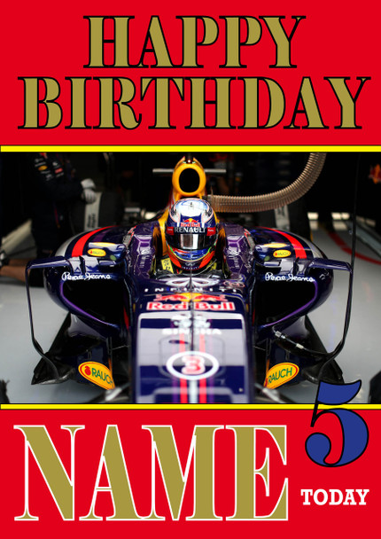 Personalised Daniel Ricciardo Birthday Card 2