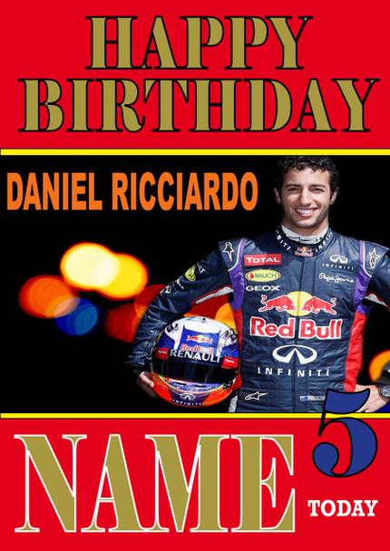 Personalised Daniel Ricciardo Birthday Card 5