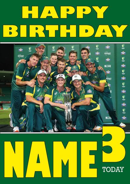 Australian Cricket Team Personalised Card