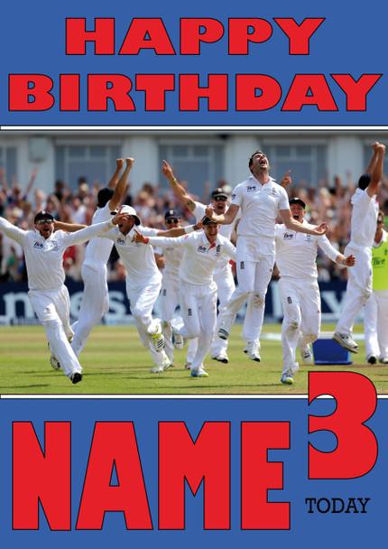 England Team Celebration Personalised Card
