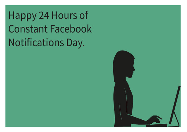 24 Hours Of Notifications Personalised Birthday Card