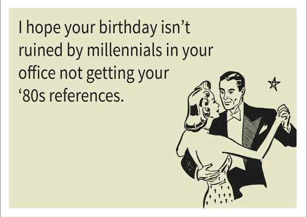 80's References Personalised Birthday Card