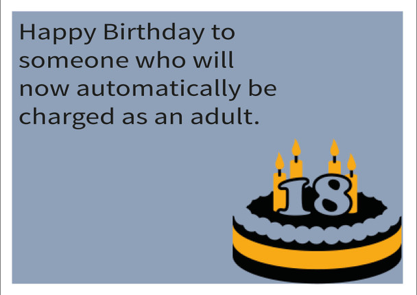 Adult Personalised Birthday Card