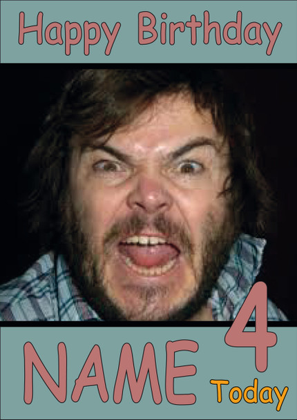Jack Black Personalised Birthday Card