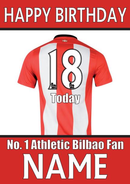 Athletic Bilbao Fan Happy Birthday Football