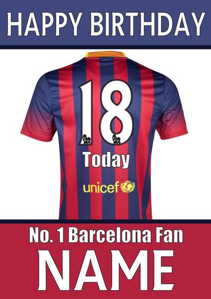 Barcelona Fan Happy Birthday Football
