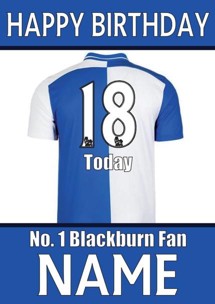 Blackburn Fan Happy Birthday Football