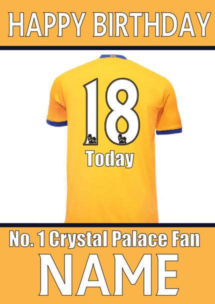 Crystal Palace Fan Happy Birthday Football