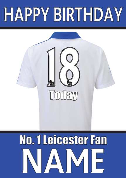Leicester Fan Happy Birthday Football