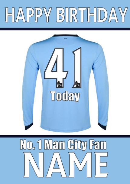 Mancher City Fan Happy Birthday Football
