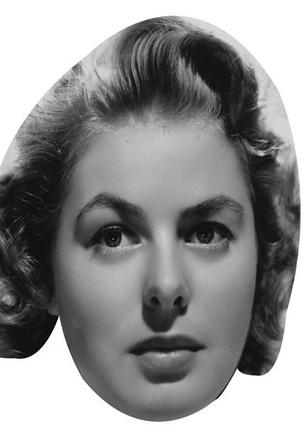 Ingrid Bergman Bw Celebrity Face Mask