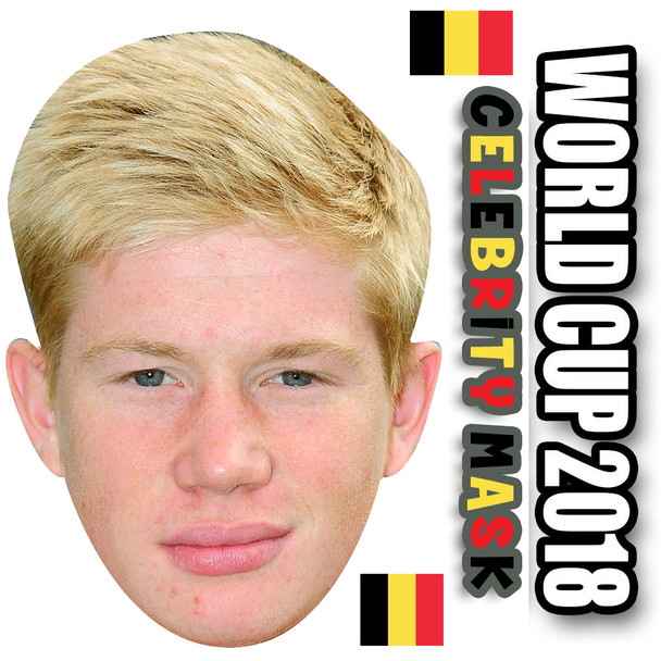 Kevin De Bruyne Belgium Football World Cup 2018 Face Mask