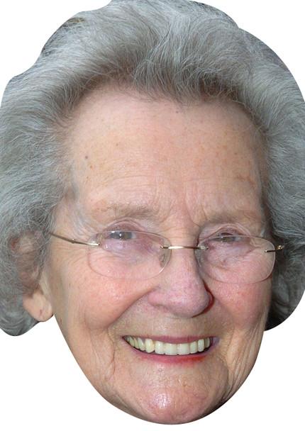 Margaret john - doris celebrity party face fancy dress mask