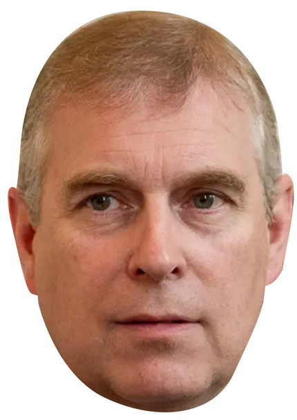 Prince Andrew Face Mask