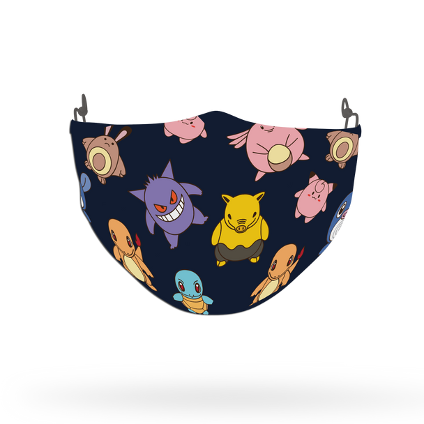 Pokemon Characters Pattern Face Covering Print 5