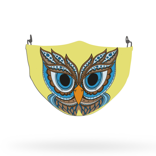 Owl Animal Face Covering Print 1