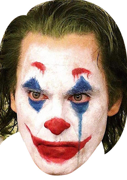 Joker actor movie celebrity face mask Fancy Dress Face Mask 2021