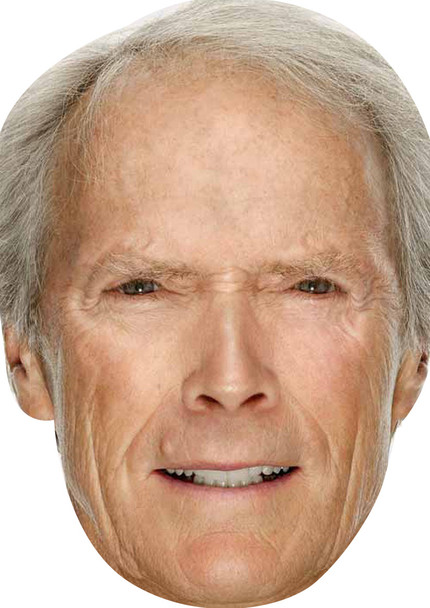 Celebrity Mask Card Face and Fancy Dress Mask Clint Eastwood Young