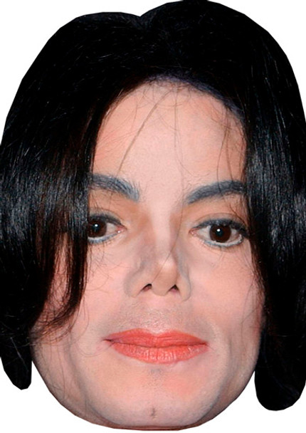 Celebrity Mask Card Face and Fancy Dress Mask Young Michael Jackson