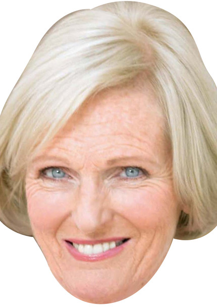 Mary berry book celebrity party face fancy dress mask