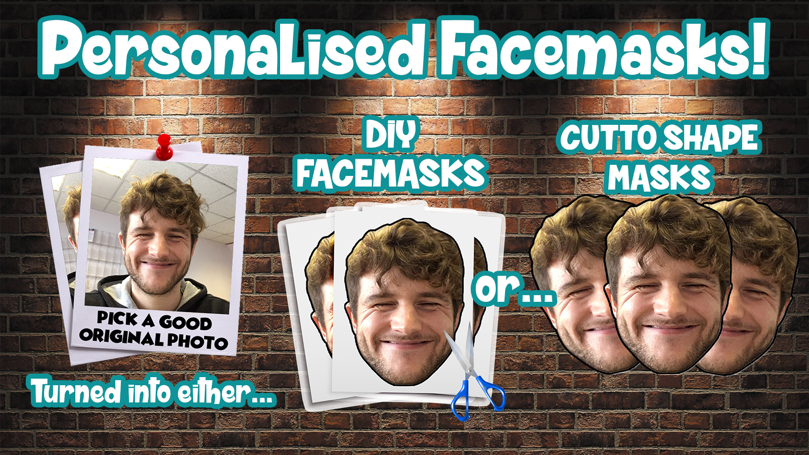PERSONALISED PHOTO FACE MASKS custom STAG DO HEN NIGHT PARTY sash COSTUME New n