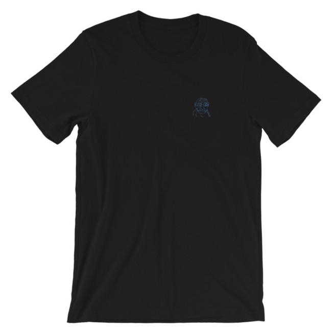 Neon Gandhi / Embroidered Short-Sleeve Unisex T-Shirt