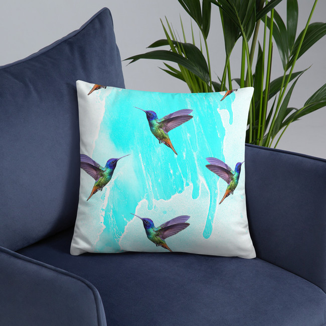 Val's Hummingbird Pillow #1