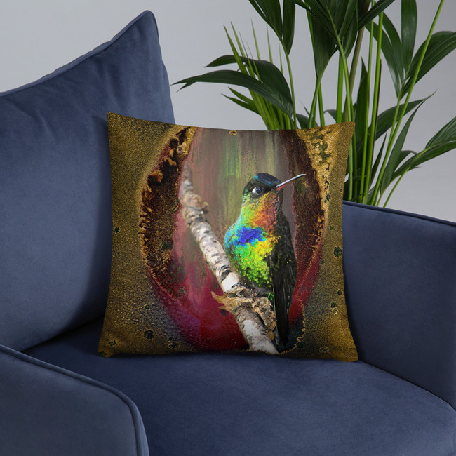 Val's Hummingbird Pillow #3