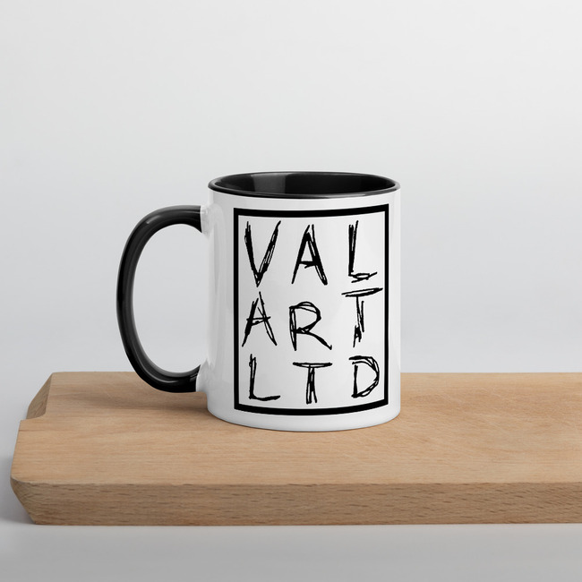 VAL ART LTD logo mug