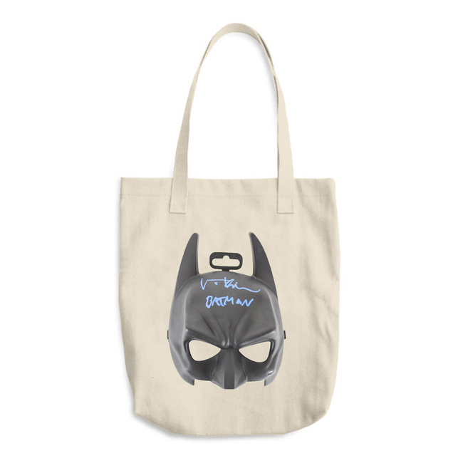 'We all wear masks' Batman / Cotton Tote Bag