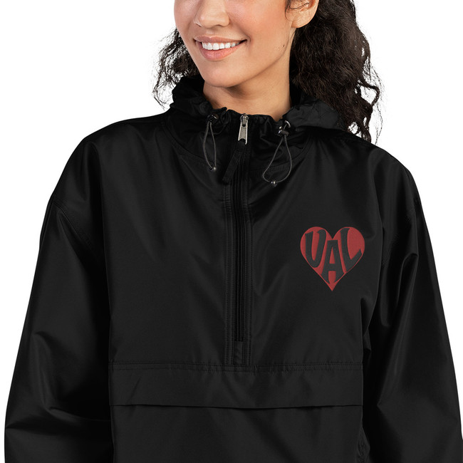 VALentine embroidered Champion Packable Jacket