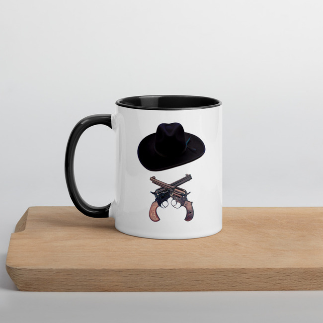 Doc Holliday Hat & Crossguns mug