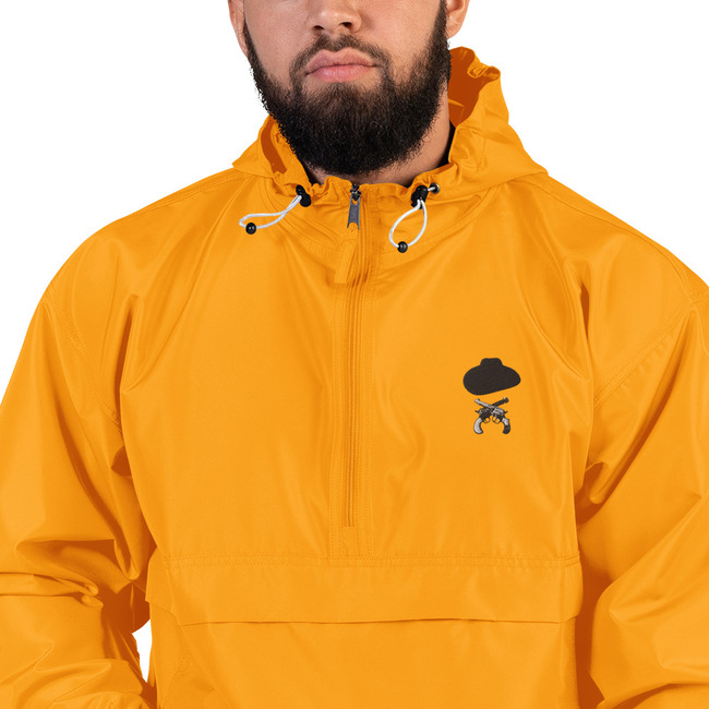 Doc Holliday Hat & Crossguns / embroidered Champion Packable Jacket