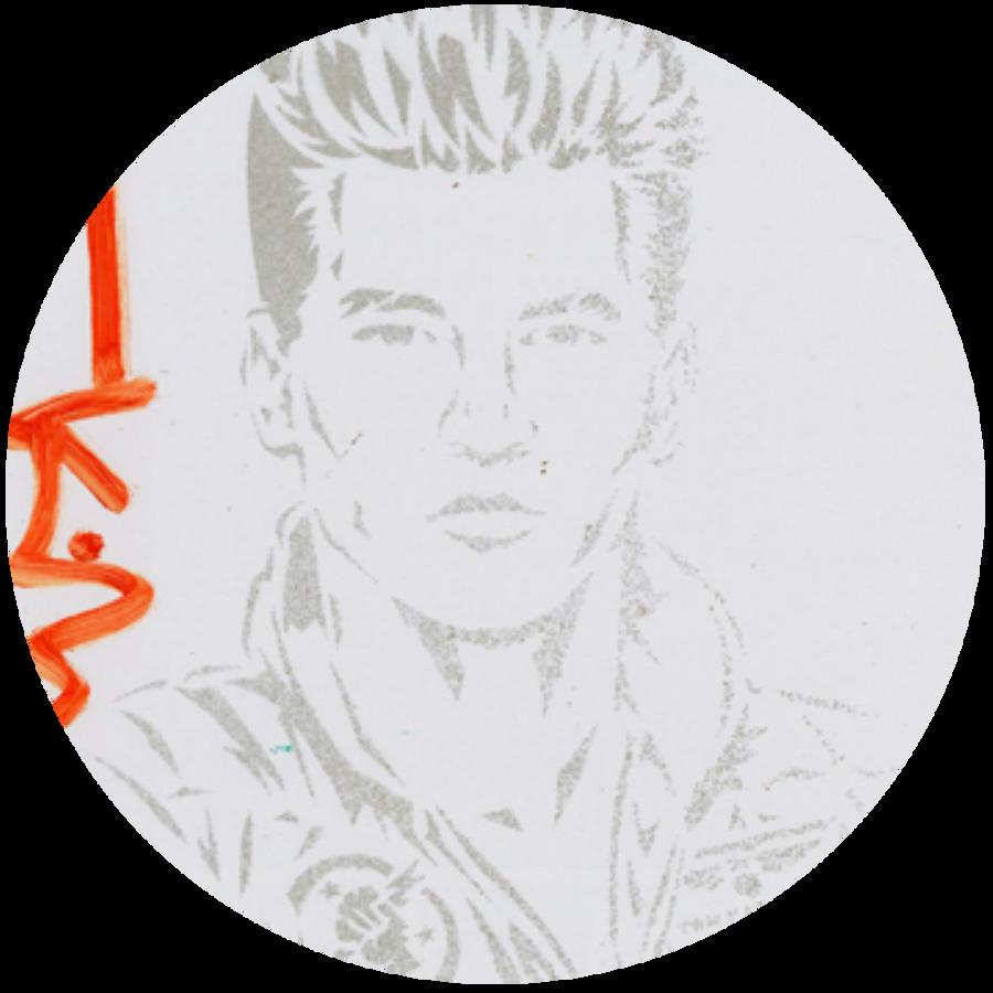 Iceman Icon on Paper 008