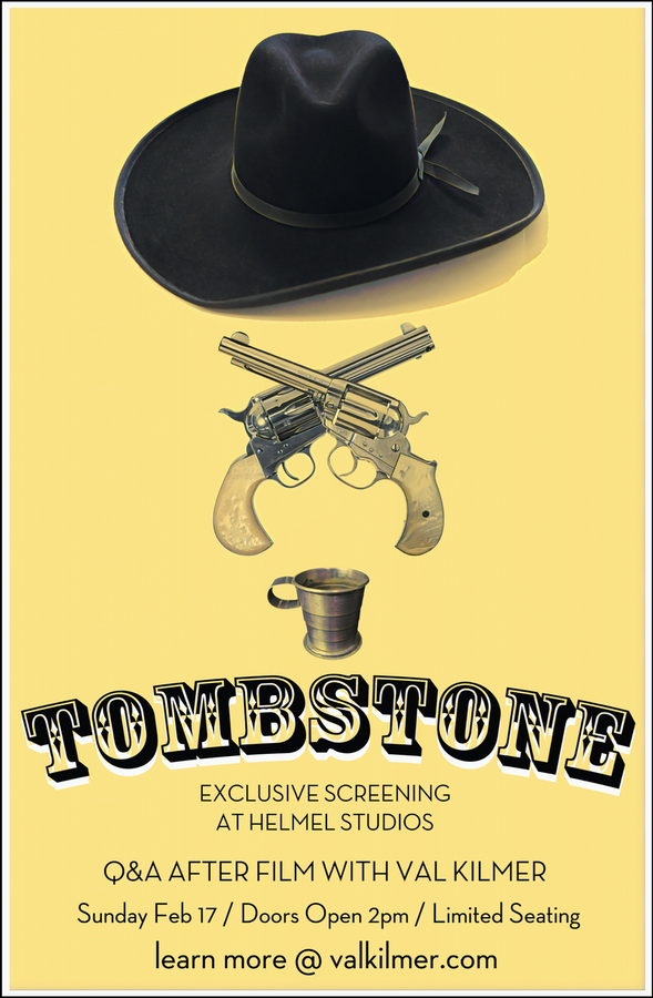 """""""Tombstone"""" at HelMel Studios Movie Handbill 11"""" x 17"""""""