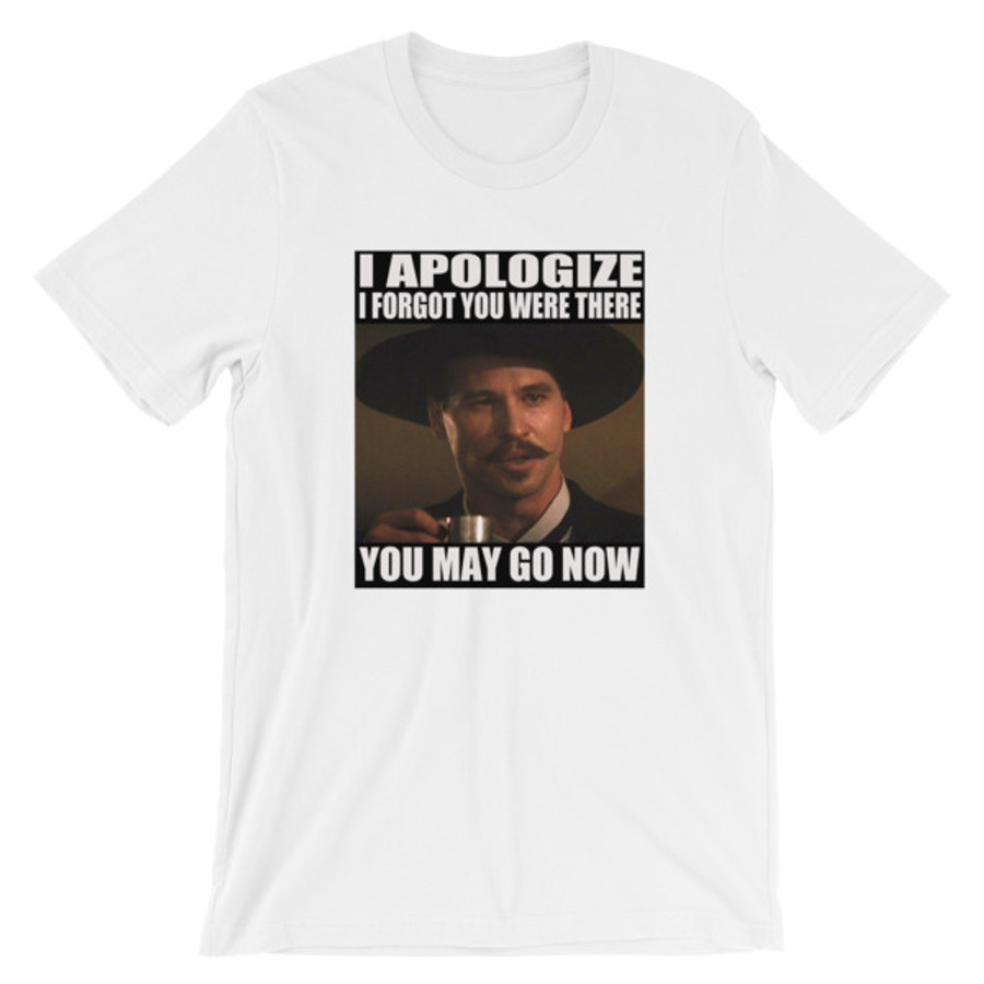 "Doc Holliday ""I' Apologize..."" Photo T-Shirt"