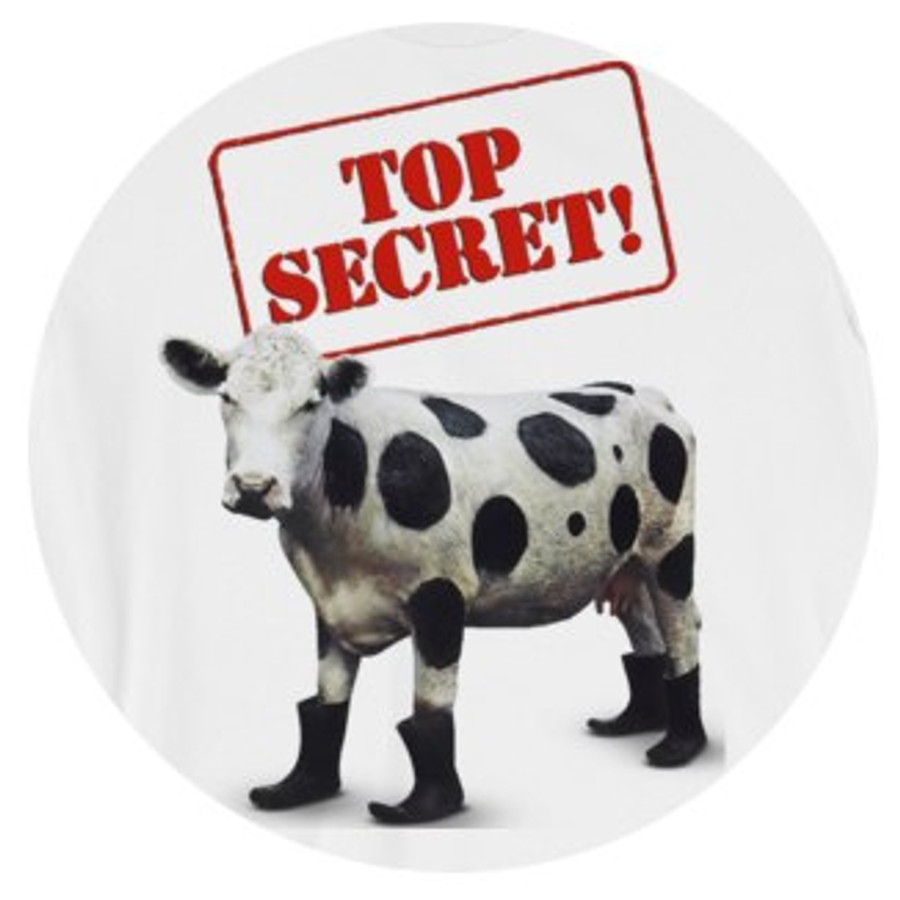 "Cow ""Top Secret"" Retro T-Shirt"