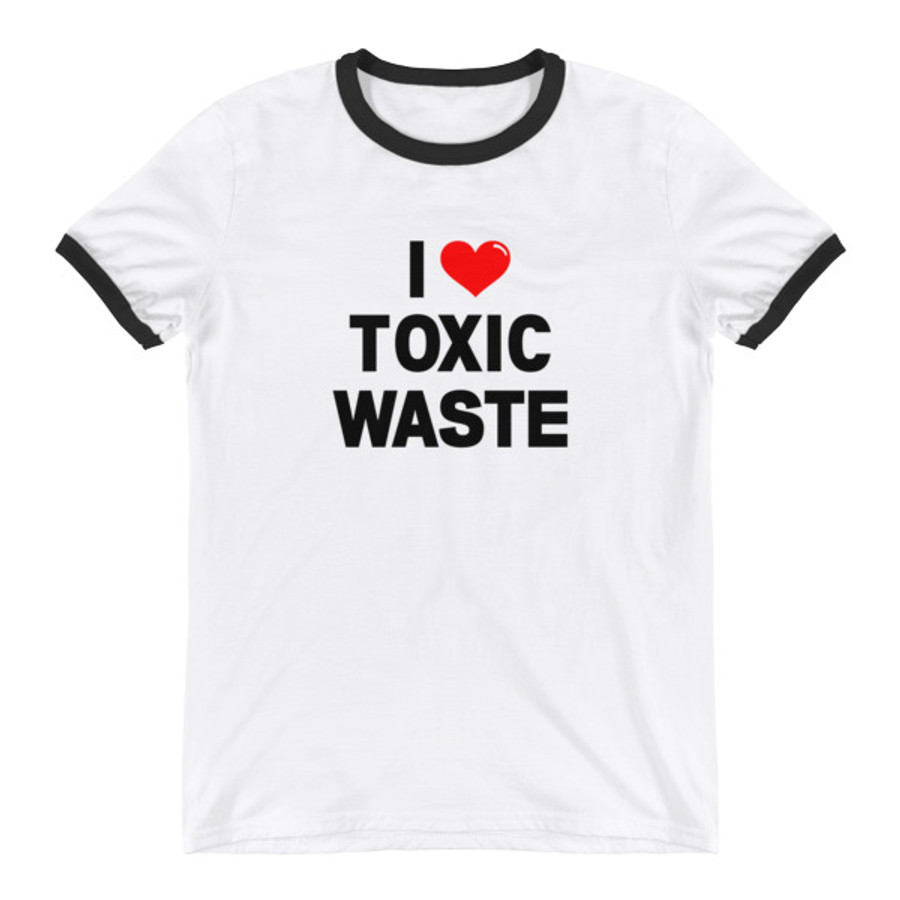 "Real Genius ""I Love Toxic Waste"" Retro Ringer T-Shirt"