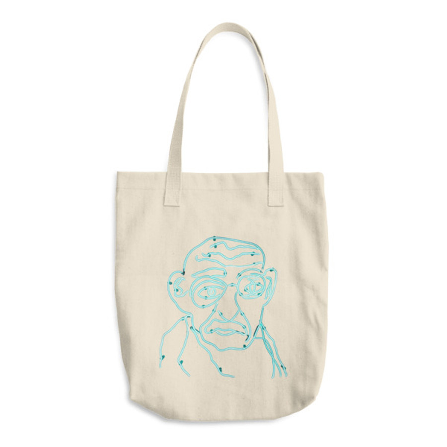 Neon Gandhi / Cotton Tote Bag