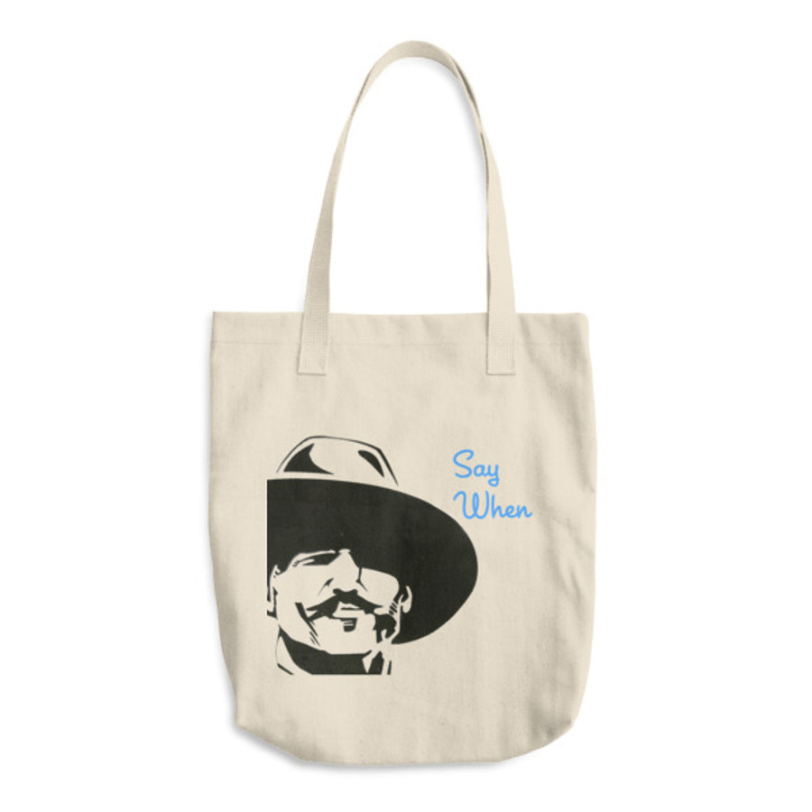 Doc 'When' / Cotton Tote Bag