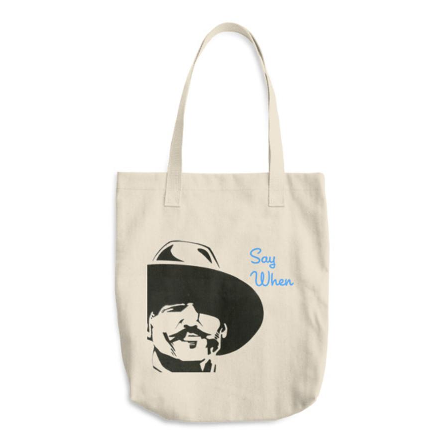 Doc 'When' Cotton Tote Bag