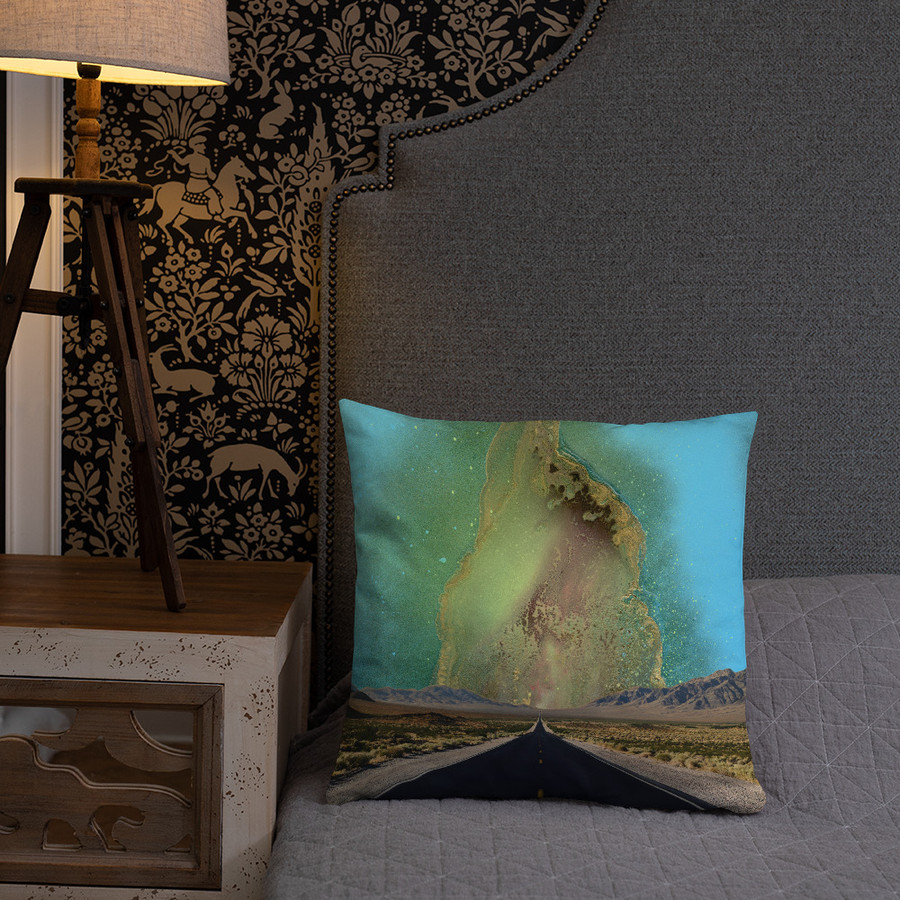 Val's Infinity Road Pillow