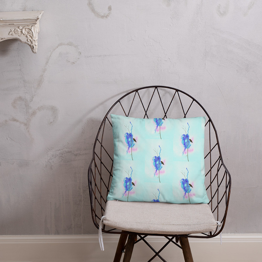 Val's Hummingbird Pillow #2