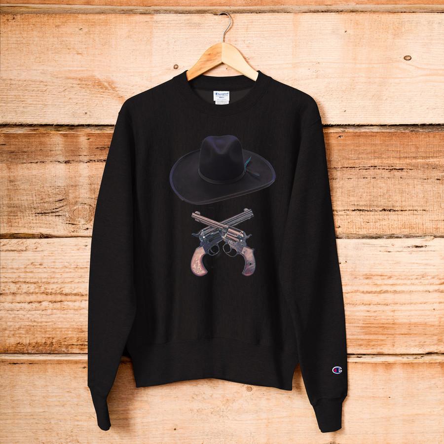 Doc Holliday Hat & Crossguns / Champion Sweatshirt