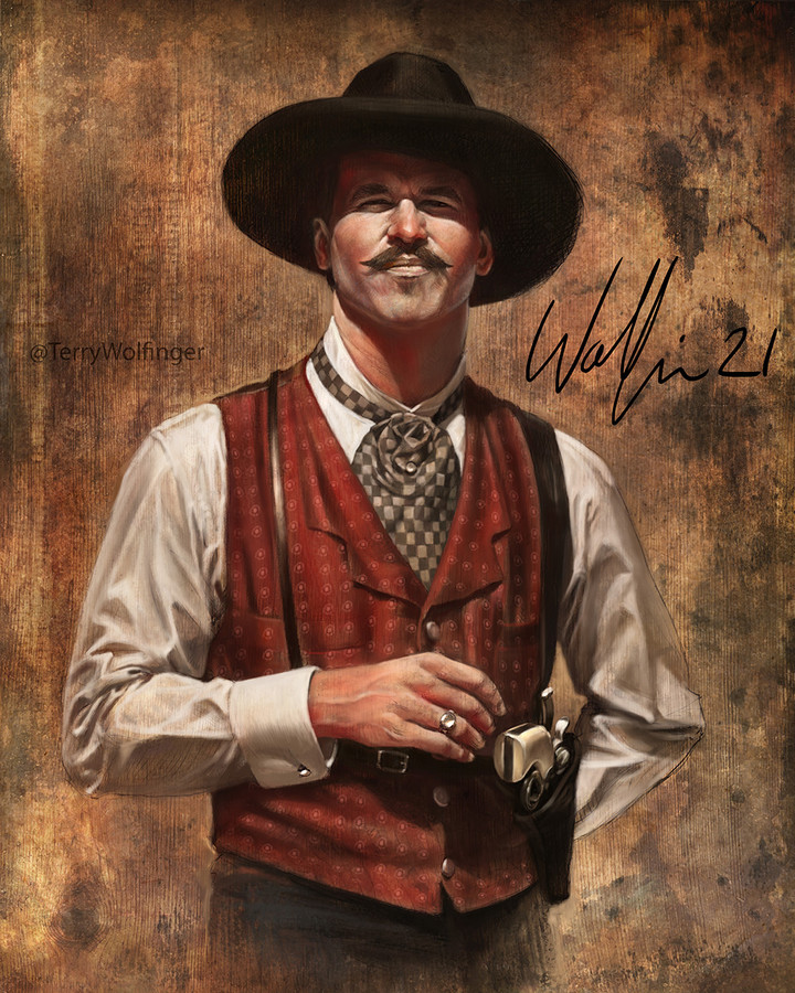 EXCLUSIVE / LIMITED EDITION - Signed Doc Holliday Print
