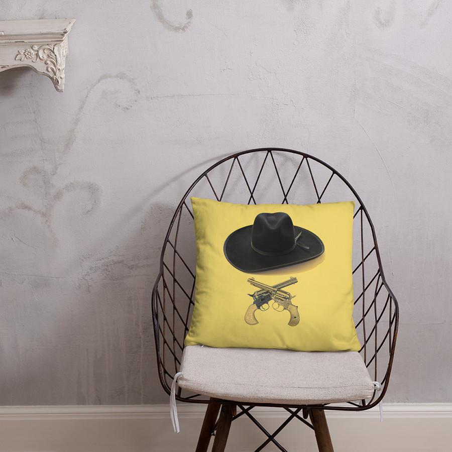 Hat & Crossguns Pillow