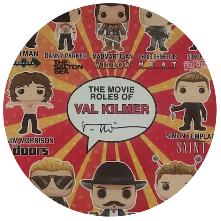 """""""The Movie Roles of Val Kilmer"""" Autographed Pop! Figures Poster"""