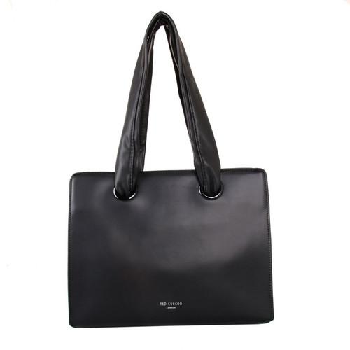 Black soft handle shoulder bag