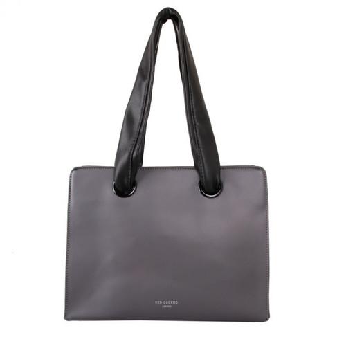 Grey soft handle shoulder bag