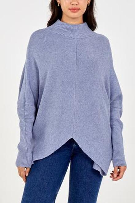 Denim blue rib jumper